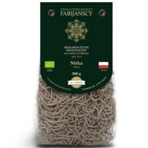 Fabijańscy - Makaron ekologiczny żytni na wodzie źródlanej. Nitka 300 g