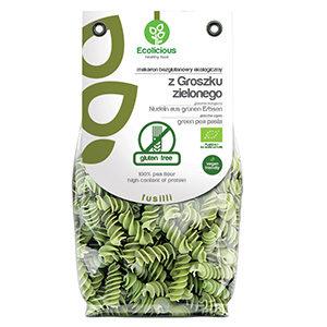 Ecolicious- Bezglutenowy makaron ekologiczny z groszku zielonego na wodzie źródlanej